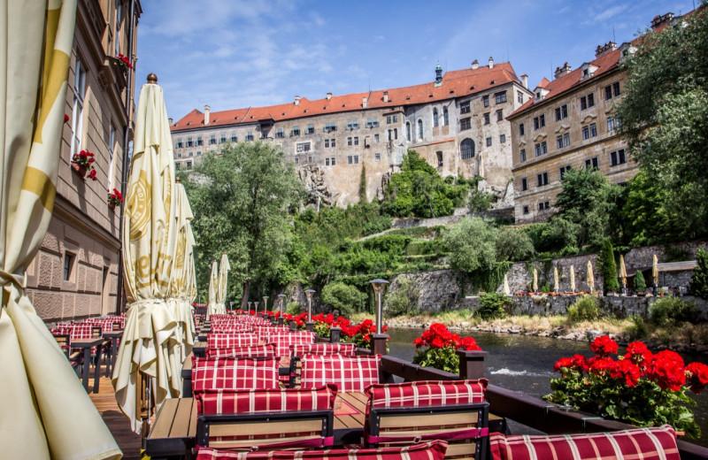 Patio at Hotel Dvorak.