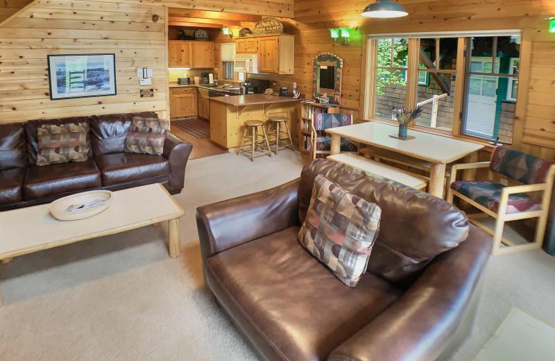 Rental kitchen living room at Sisters Vacation Rentals.