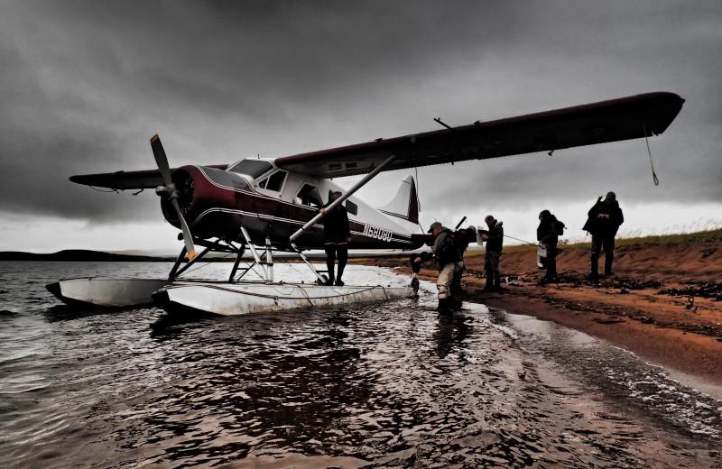 Float plane at Alaska Trophy Adventures Lodge.