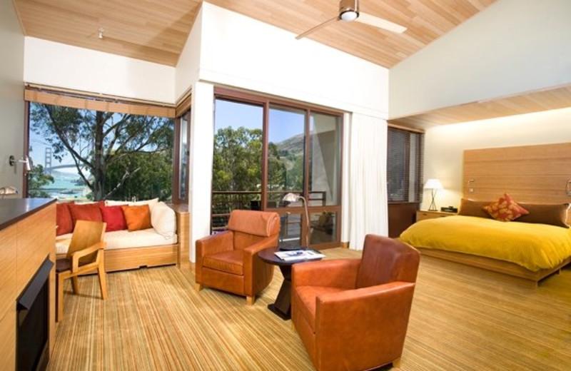 Suite interior at Cavallo Point Lodge.