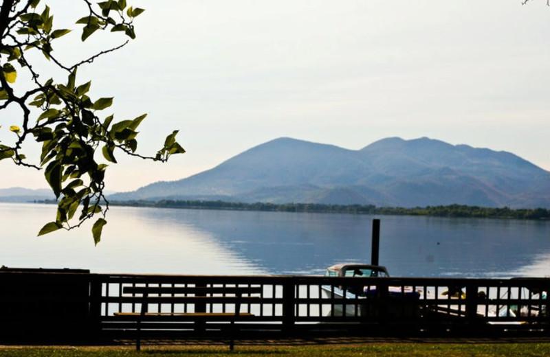 The lake at Skylark Shores Resort.