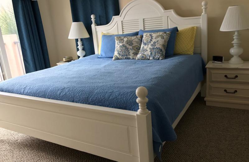 Rental bedroom at Saint Augustine Beach Vacation Rentals.