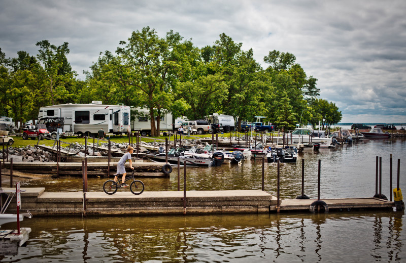 RV camp at Arnesen's Rocky Point Resort.