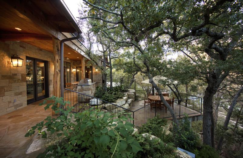 Guest house patio at Joshua Creek Ranch.