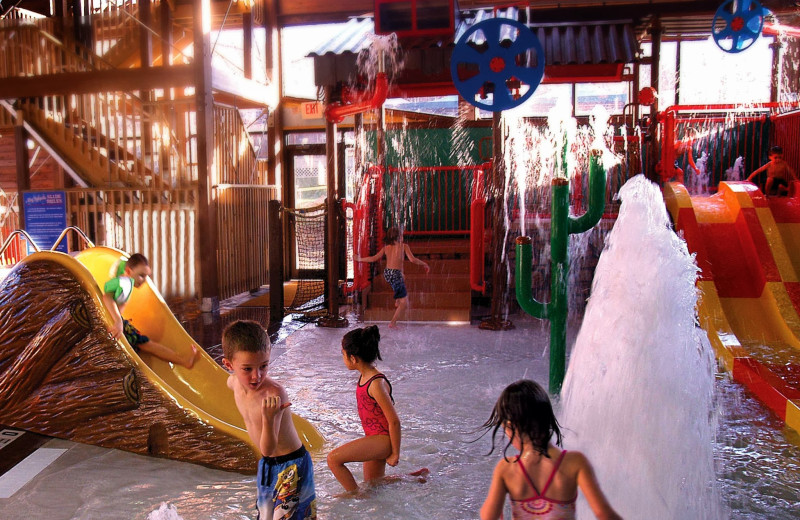 Indoor waterpark at Rocking Horse Ranch Resort.