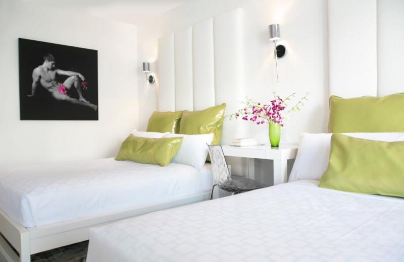 Guest room at Royal Palms Resort.