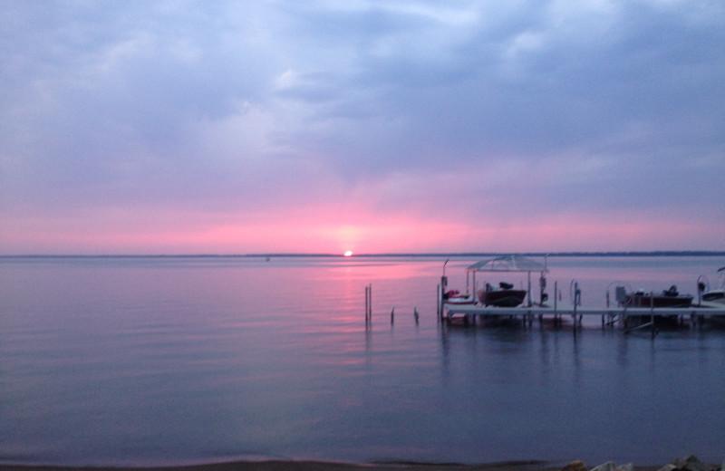 Lake view at Otter Tail Beach Resort.