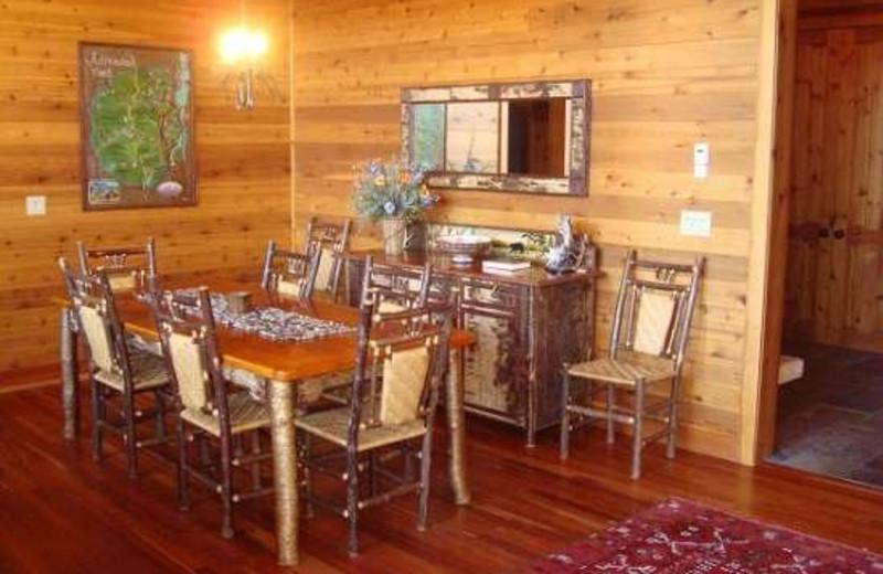 Dining Room at Camp Wildlife   On Mirror Lake