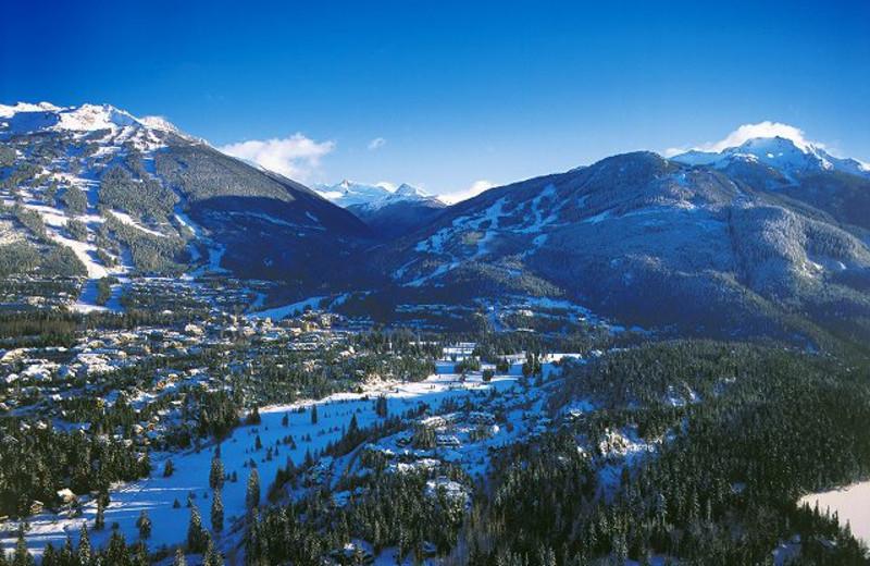 Mountain view at Carleton Lodge.