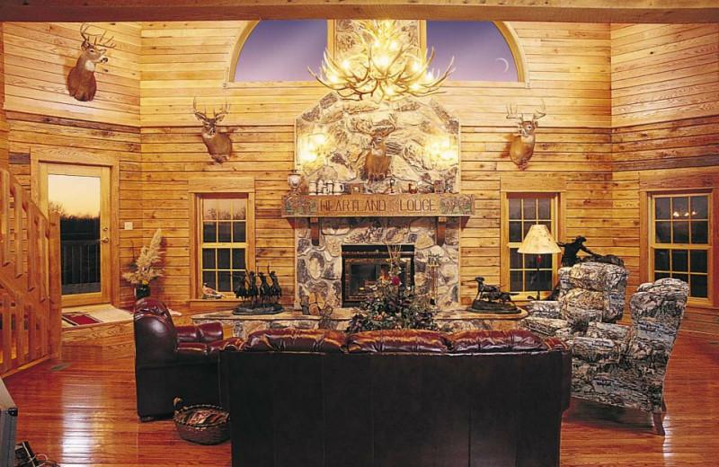 Lounge at Harpole's Heartland Lodge.