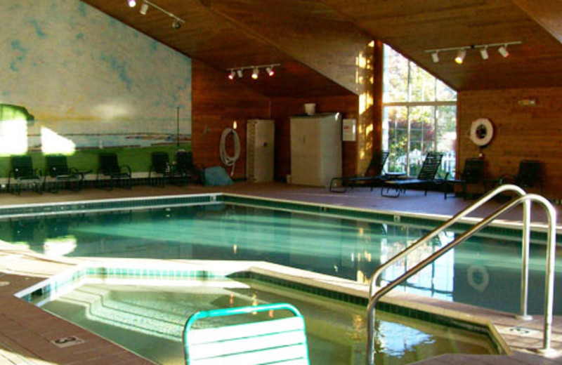 Indoor pool at Pheasant Park Resort.