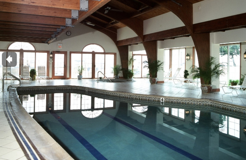 Indoor pool at Saybrook Point Inn & Spa.