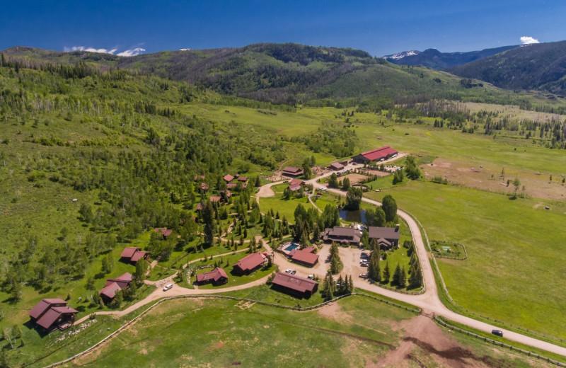 Aerial view of Vista Verde Ranch.
