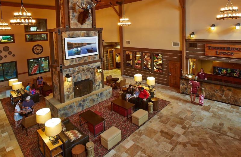 Lobby at Timber Ridge Lodge & Waterpark.