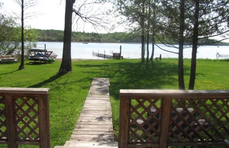 Lake cabin at Rising Eagle Resort.