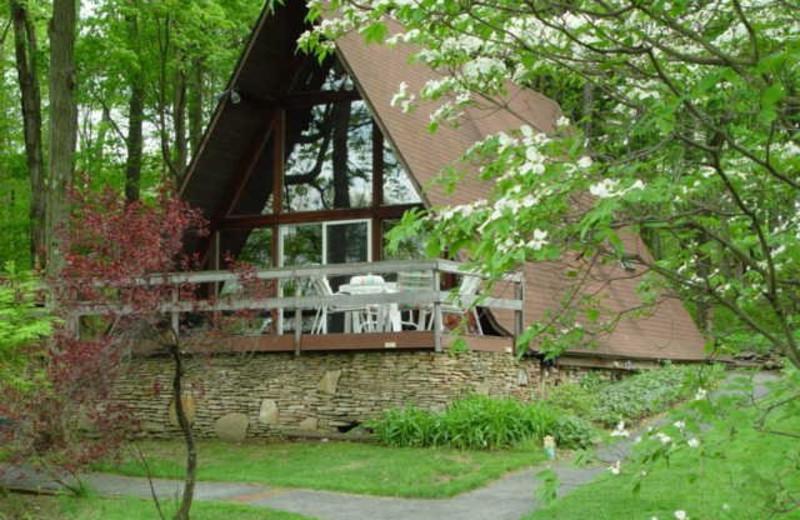 Exterior view of Stone Ridge Bed & Breakfast.