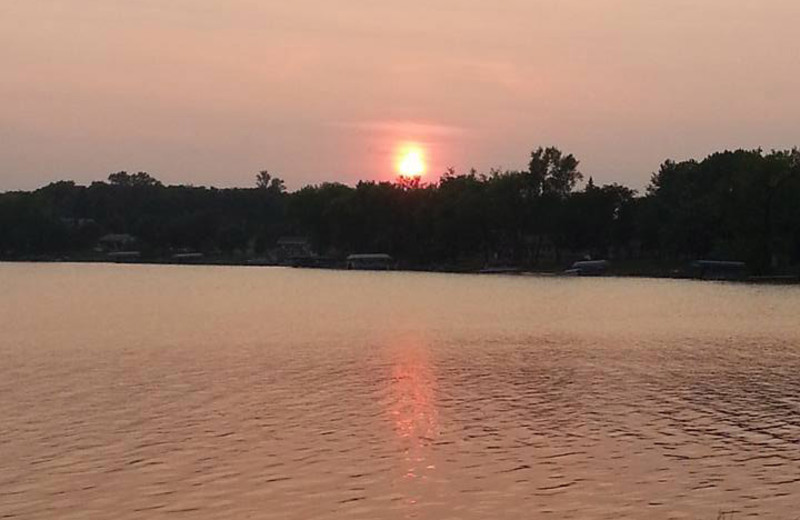 Sunset at Whispering Waters Resort.