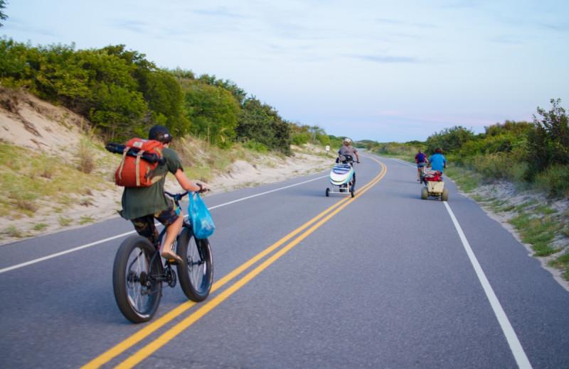 Biking at Sanctuary Vacation Rentals at Sandbridge.