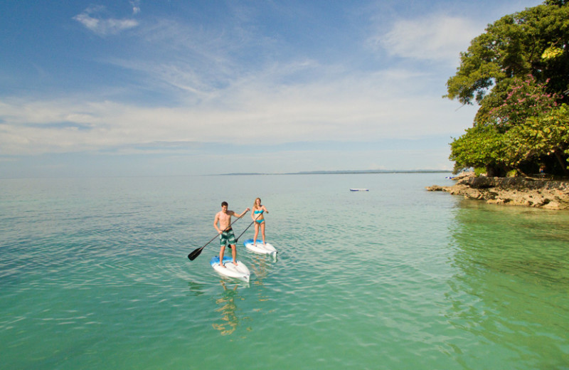 Paddle boarding at Bluefields Bay Villas.