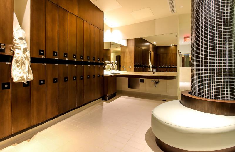 Locker room at Sparkling Hill Resort.
