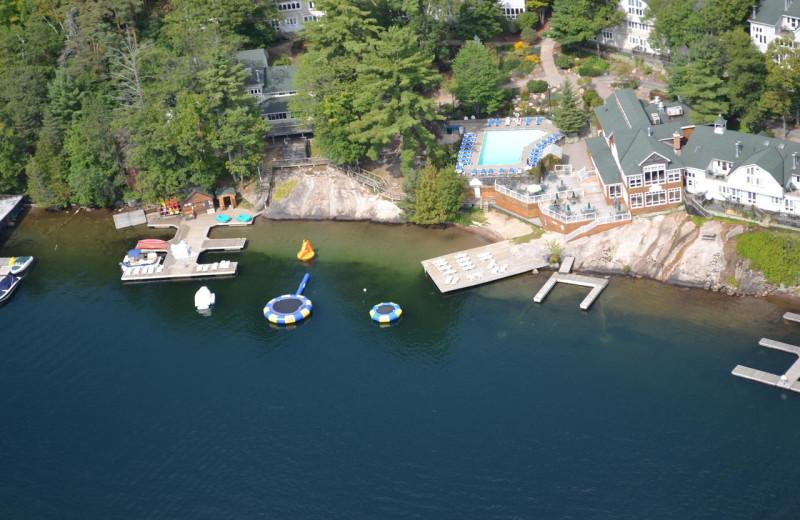Aerial view of Rocky Crest Golf Resort.