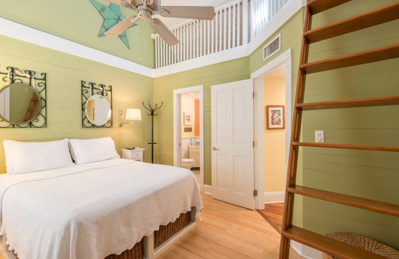 Rental bedroom at Preferred Properties Key West.