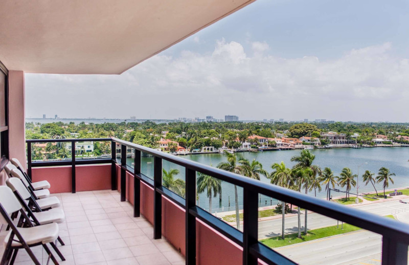 Guest balcony at The Alexander All Suite Oceanfront Resort.