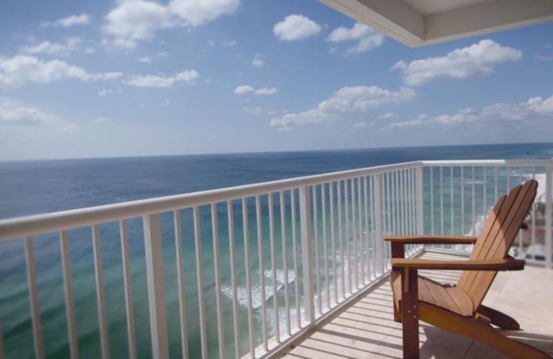 Balcony view at Majestic Beach Resort.