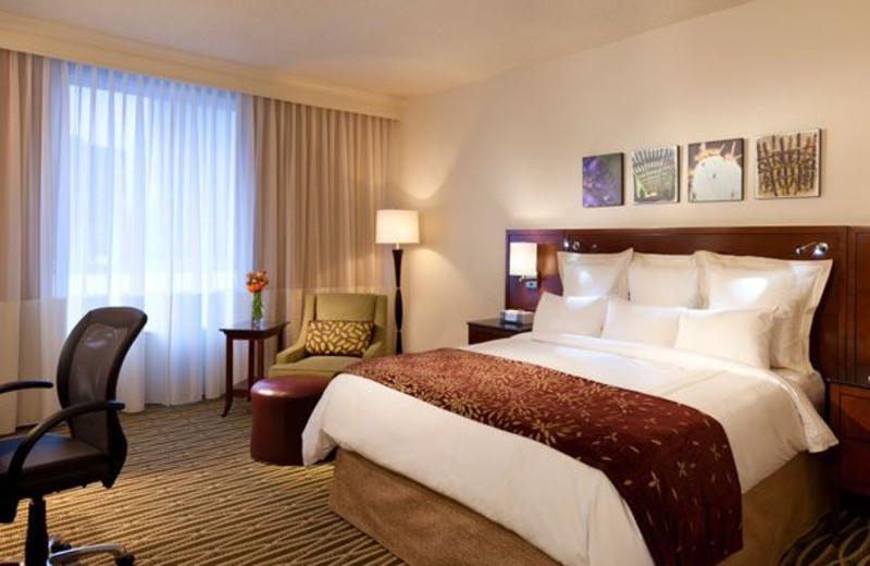 Guest room at The Westin City Center, Dallas.