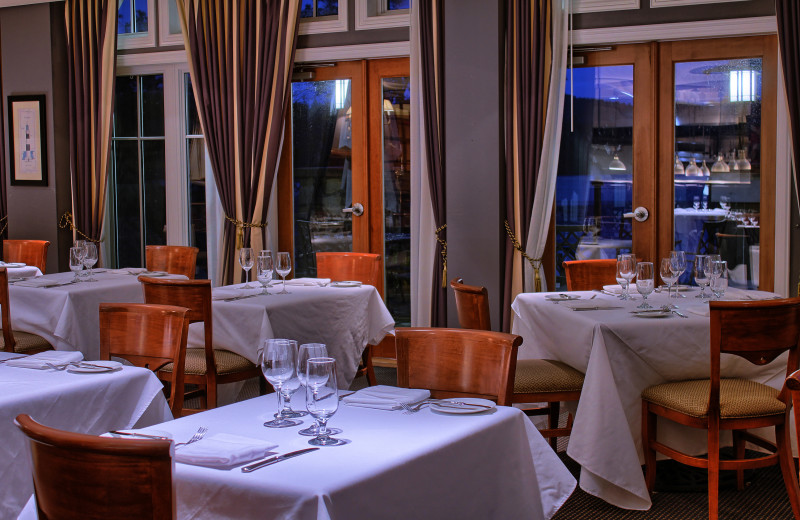 Dining at Poets Cove Resort & Spa.