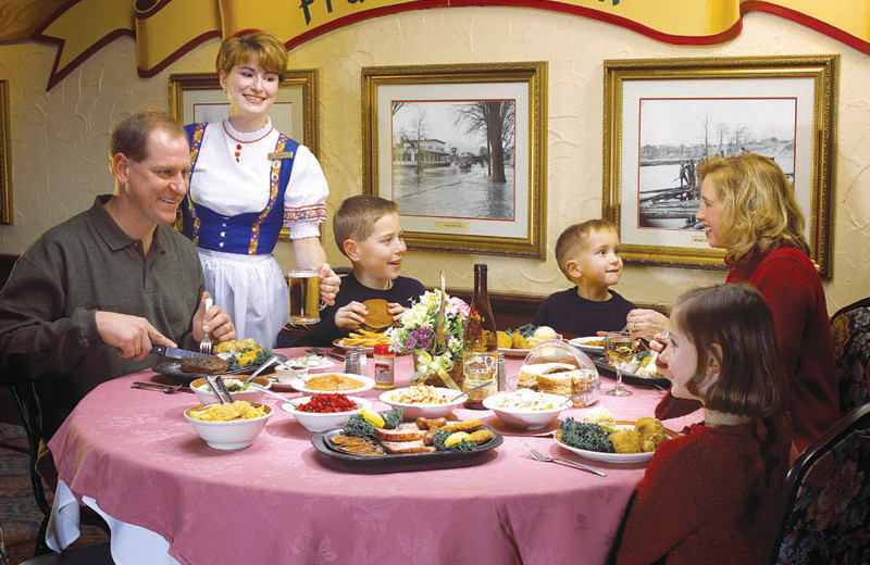 Family dining at Bavarian Inn of Frankenmuth.