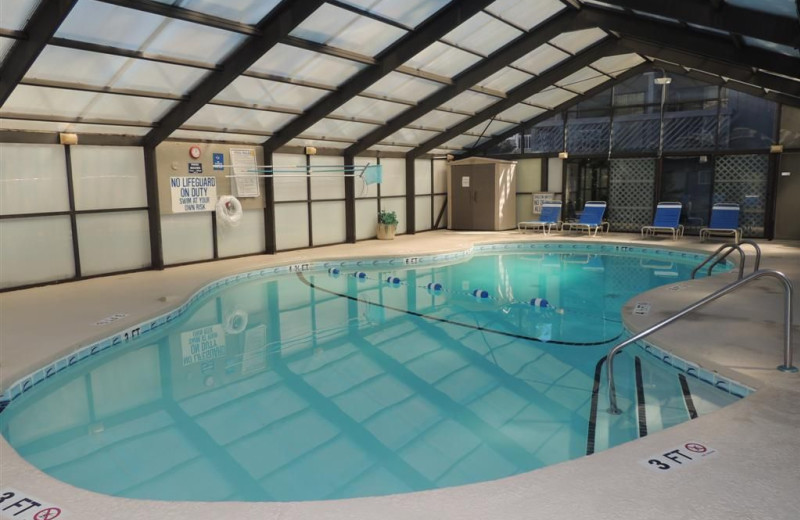 Indoor pool at Myrtle Beach Vacation Rentals.