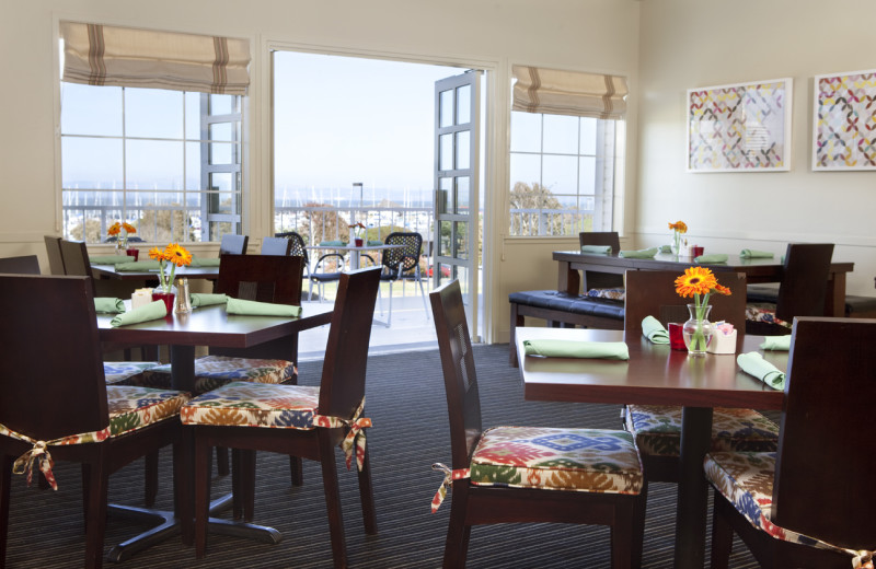 Dining room at Inn At Oyster Point.