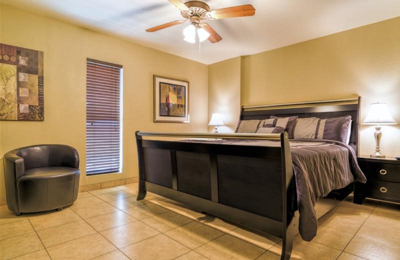 Rental bedroom at Padre Getaways.
