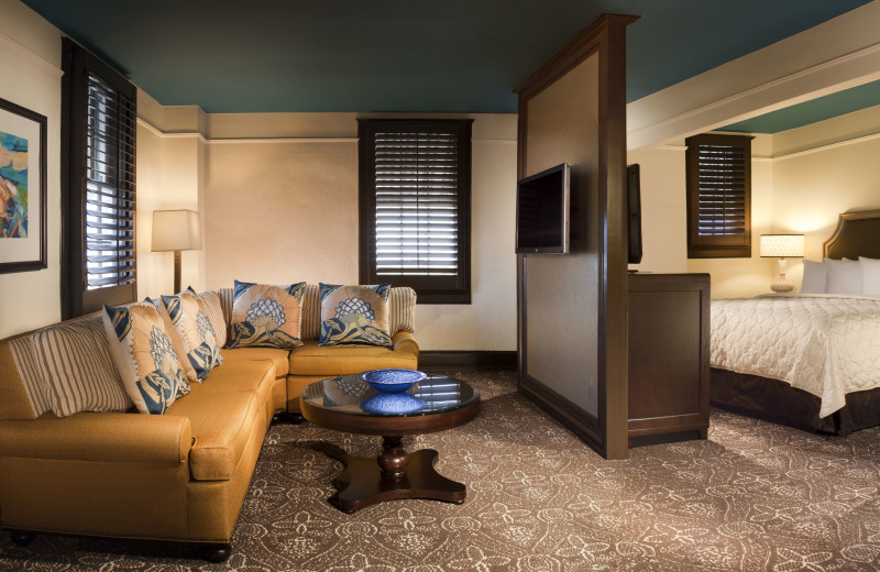 Guest suite at La Concha Hotel & Spa.