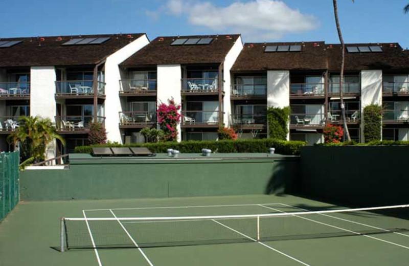 Tennis court at Hale Kamaole Condos.