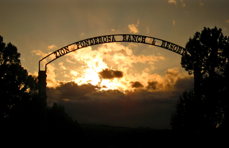 Zion Ponderosa Ranch sign.