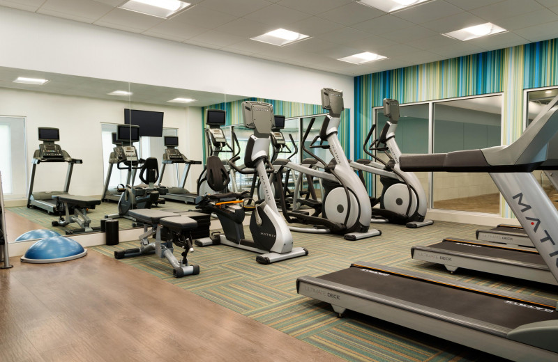 Fitness room at Holiday Inn Express & Suites Madison.