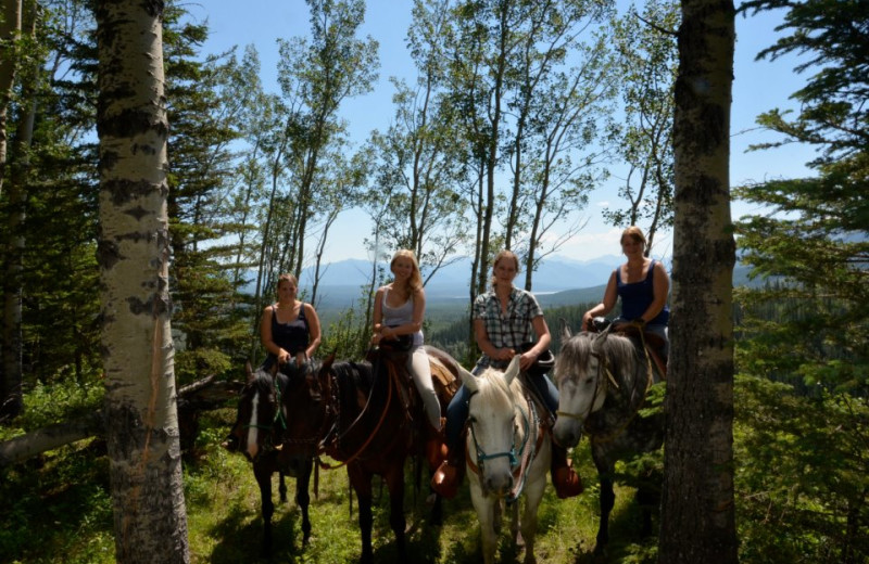 Horseback riding at Black Cat Guest Ranch.