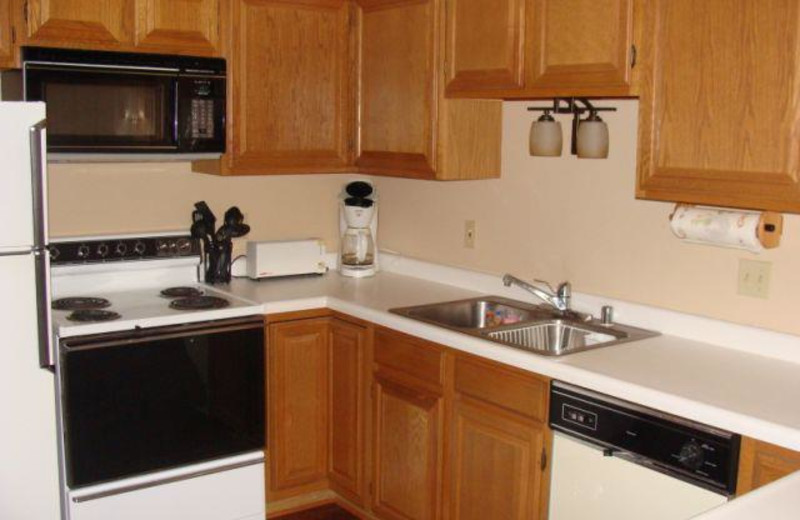 Kitchen unit at Lakewoods Resort.
