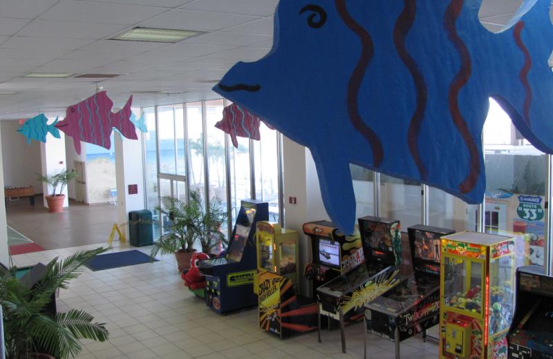 Video arcade at Grand Hotel & Spa.