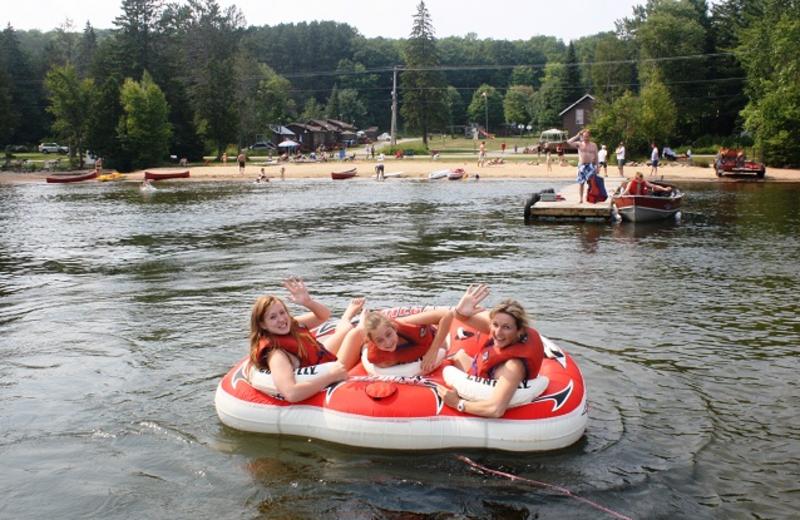 Water fun at Sandy Lane Resort.