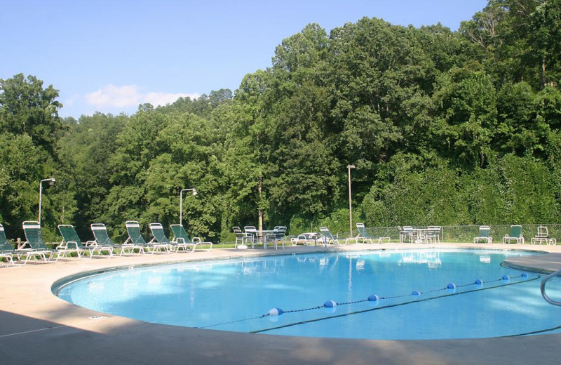 Outdoor pool at Nantahala Village.