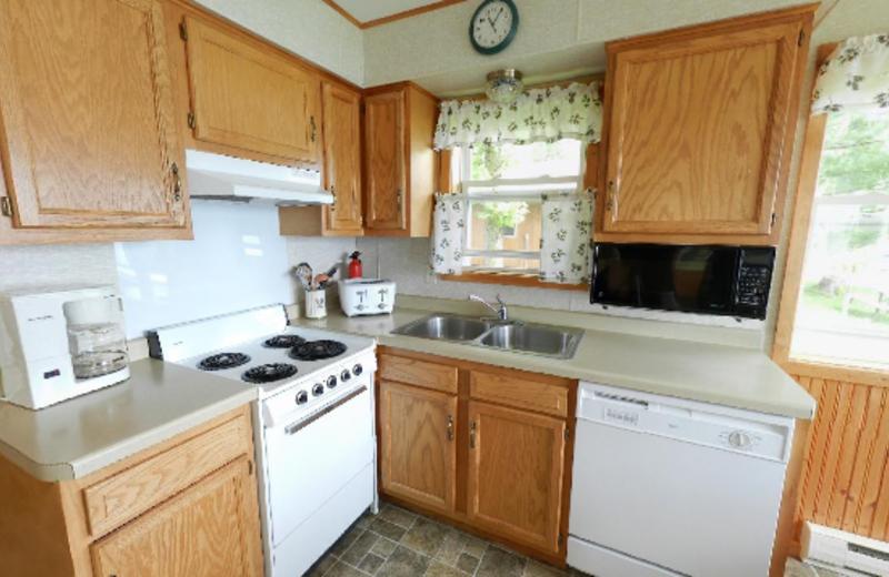 Cabin Kitchen at Janetski's Big Chetac Resort