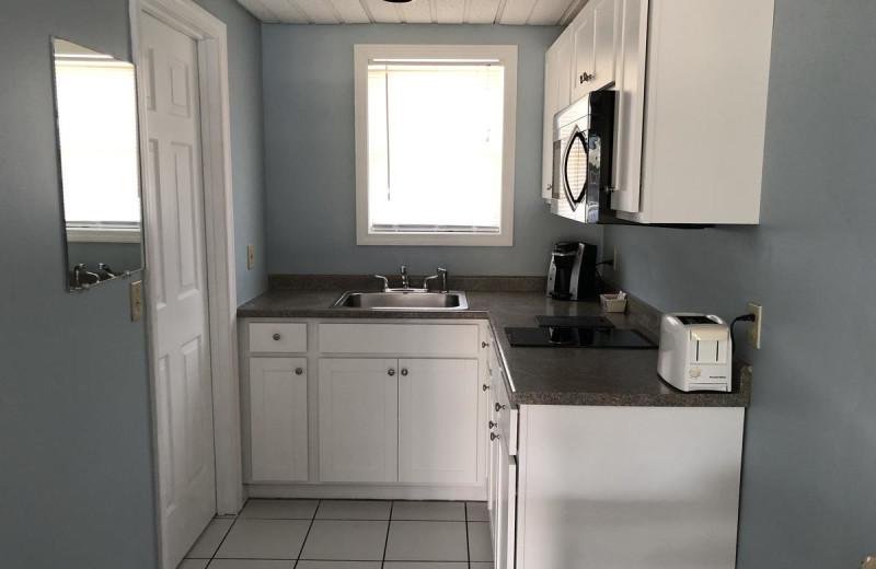Guest kitchen at Ocean Walk Hotel.