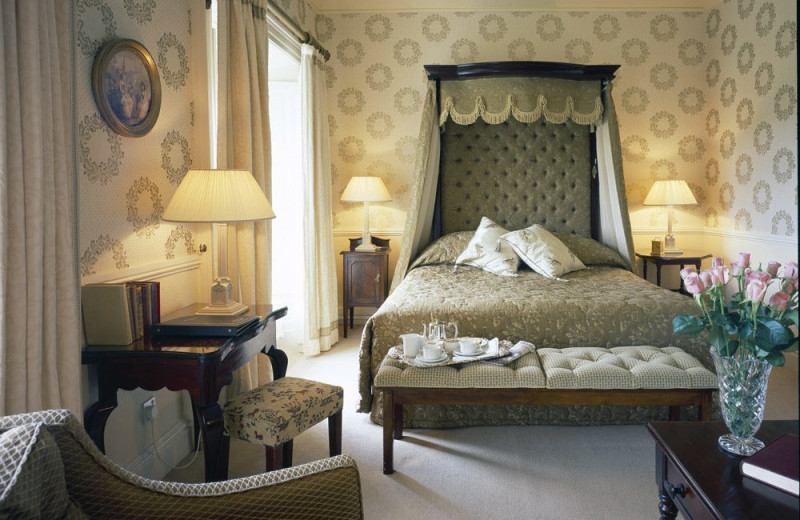 Guest room at Longueville House Hotel.