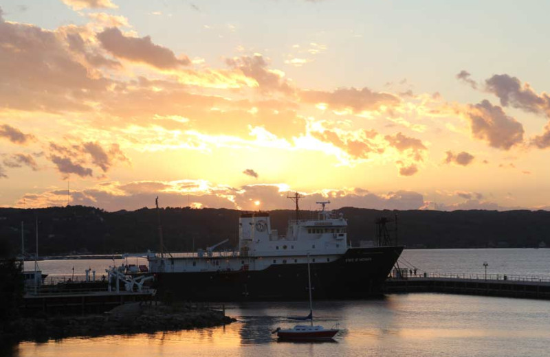 Sunset at Bayshore Resort.