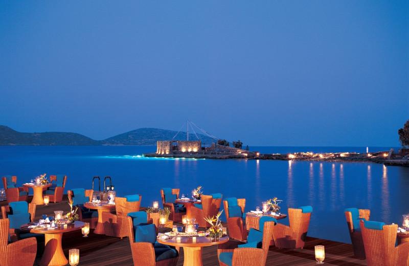 Dining at Elounda Beach Hotel.