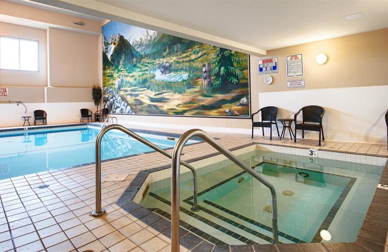 Indoor pool at Best Western Plus Prestige Inn Radium Hot Springs.