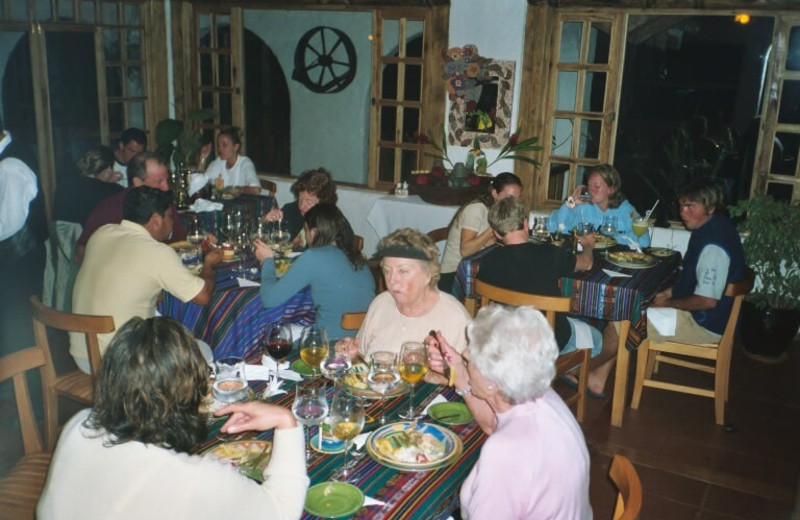 Dining at Hacienda Primavera Wilderness Ecolodge.